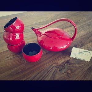 JUDITH WEBER collectible art tea set teaware